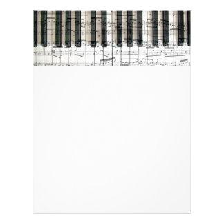 music piano keys letterhead