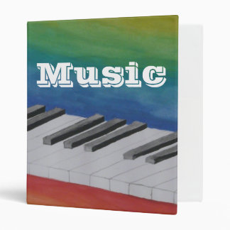 Music Piano Keys Musical Notes Destiny Dance Binder