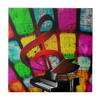 Music Piano Keys Notes Teacher Destiny Instruments Ceramic Tile