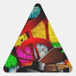 Music Piano Keys Notes Teacher Destiny Instruments Triangle Sticker