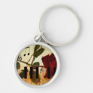 Music Piano Keys Notes Teacher Roses Instruments Keychains