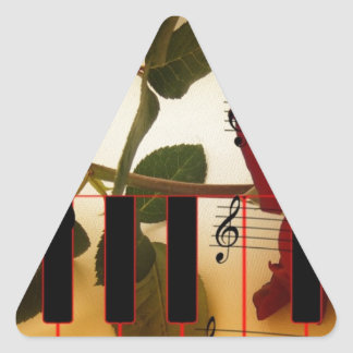 Music Piano Keys Notes Teacher Roses Instruments Triangle Sticker