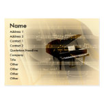 Music Piano Large Business Cards (Pack Of 100)