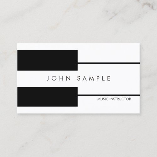 Music Piano Lessons Professional Instructor Business Card