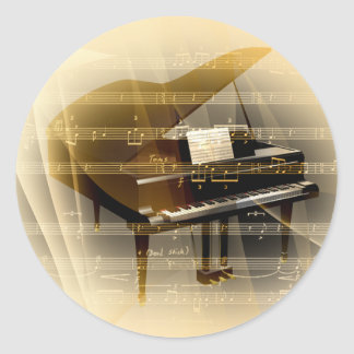 music_piano pegatina redonda