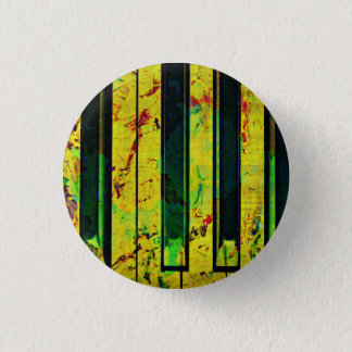 Music Piano Style Pinback Button