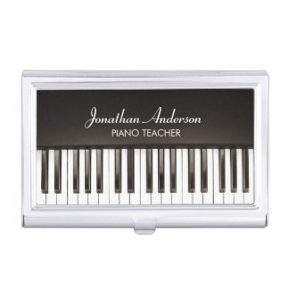 Music Piano Teacher Business Card Holder