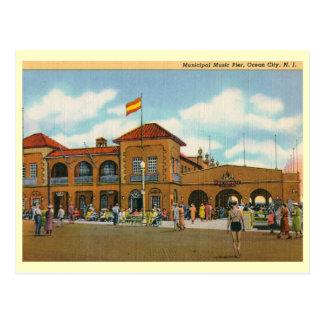 Music Pier, Ocean City, NJ Vintage Postcard