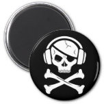 Music Pirate Piracy anti-riaa icon Refrigerator Magnets