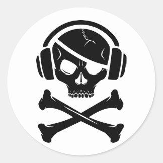 Music Pirate Piracy anti-riaa icon Stickers