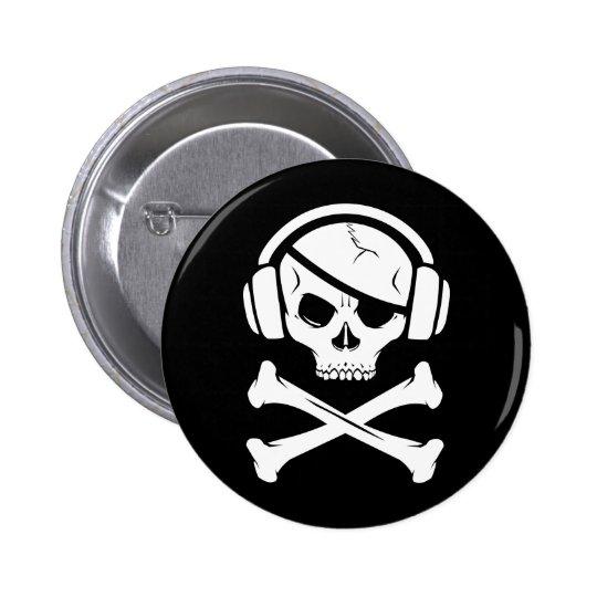 Music Pirate Piracy anti-riaa logo Button