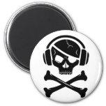 Music Pirate Piracy anti-riaa logo Fridge Magnet