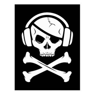 Music Pirate Piracy anti-riaa logo Postcard