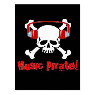 Music Pirate Postcard