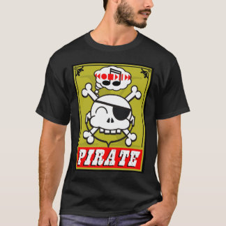music pirate skully in gold T-Shirt