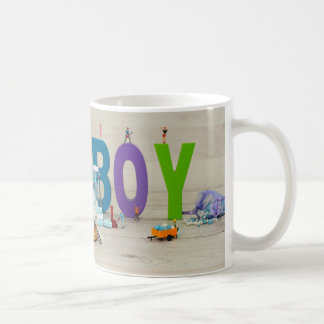 music players on its a boy card coffee mug