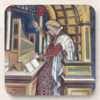Music, Playing the Organ by Gentile da Fabriano Beverage Coaster