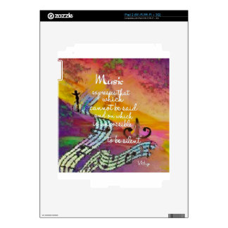 Music possesses a special charm difficult to hide iPad 2 skin