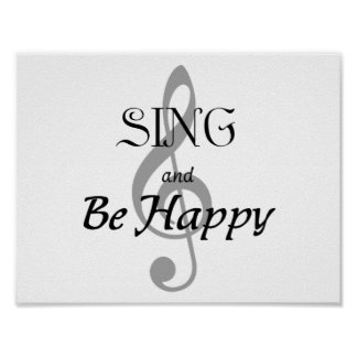 """Music Poster """"SING and Be Happy"""""""