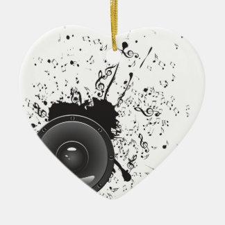Music Poster with Audio Speaker 2 Ceramic Ornament