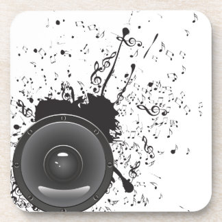 Music Poster with Audio Speaker 2 Coaster