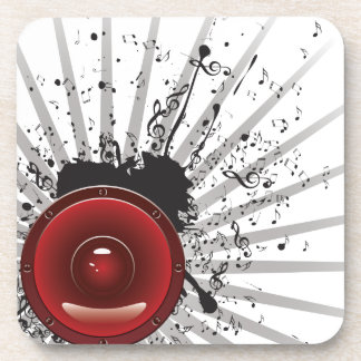 Music Poster with Audio Speaker Coaster