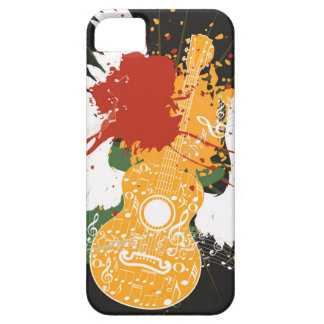Music Poster with Guitar 2 iPhone SE/5/5s Case