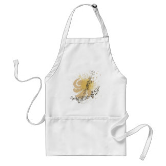 Music Poster with Guitar 3 Adult Apron