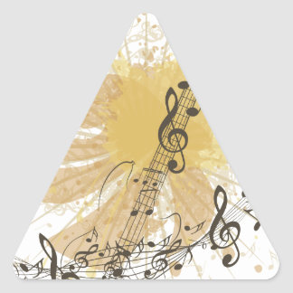 Music Poster with Guitar 3 Triangle Sticker