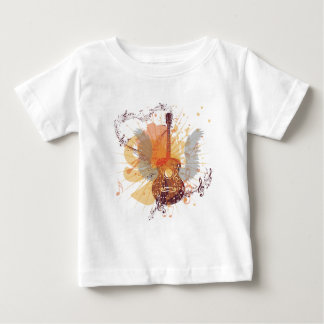 Music Poster with Guitar 4 Baby T-Shirt