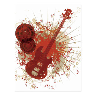 Music Poster with Guitar 5 Postcard