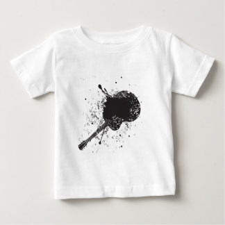 Music Poster with Guitar 6 Baby T-Shirt