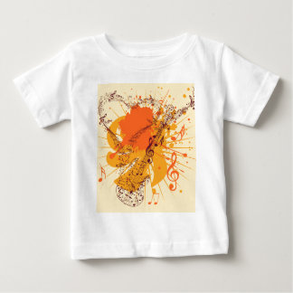 Music Poster with Guitar Baby T-Shirt