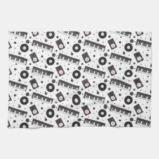 Music Producer Pattern Hand Towel