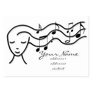 music profile card business card