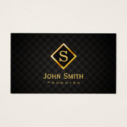 Music Promoter Gold Diamond Monogram Business Card at Zazzle