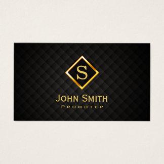Music Promoter Gold Diamond Monogram Business Card