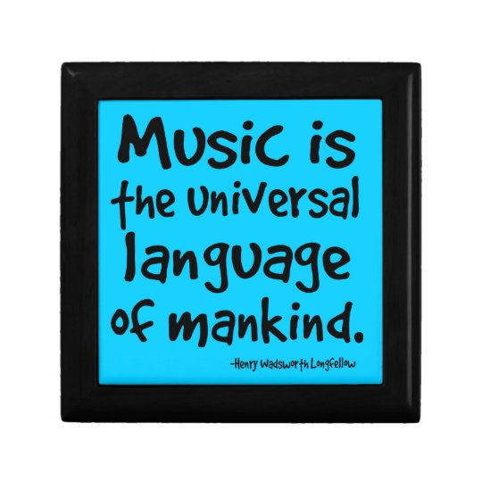 Music Quote Gift For Musician Keepsake Box