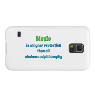 Music Quote - Music is a higher revelation than  … Galaxy S5 Cover