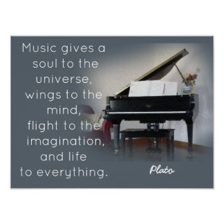 Music Quote - Plato - Art Print