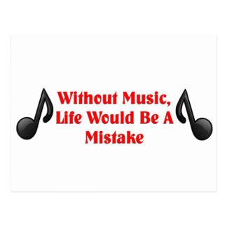 Music Quote Postcard