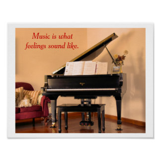 Music quote - poster