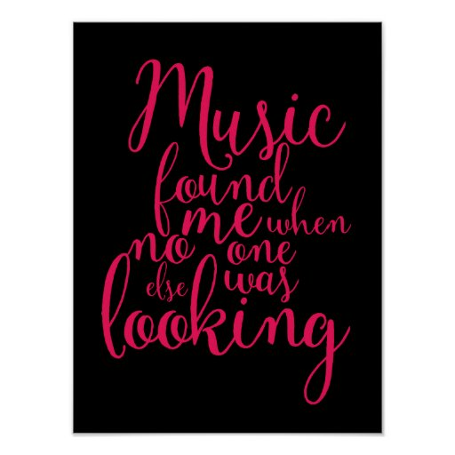 Music quotes hand lettering calligraphy poster zazzle