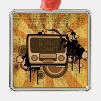 Music Radio Style Metal Ornament