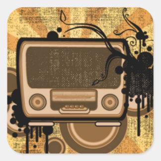 Music Radio Style Square Sticker