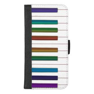 Music Rainbow Keyboard Piano Wallet Phone Case