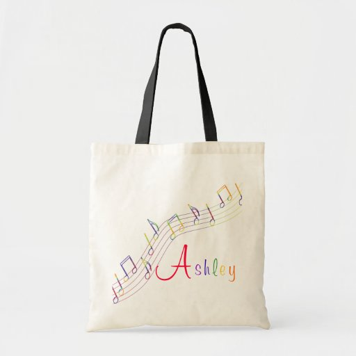 Music Rainbow Personalized Bag