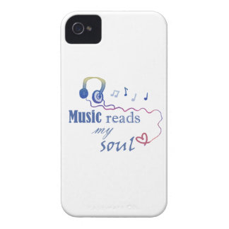 Music READS my soul iPhone 4 Cover