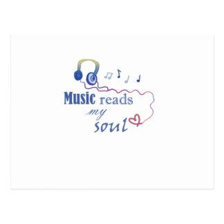 Music READS my soul Postcard