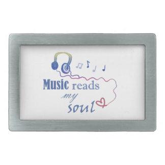 Music READS my soul Rectangular Belt Buckle